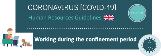 coronavirus covid-19 : Human Resources Guidelines 18 03 20