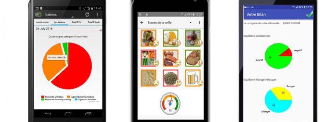 illustration Dites STOP à la sédentarité et à la malnutrition grâce à votre téléphone