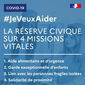 covid-19 Missions réserve civique carré