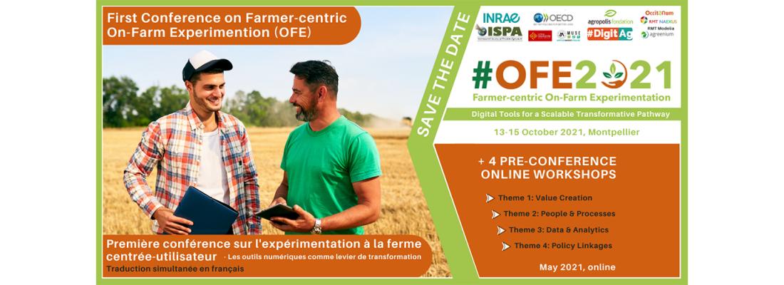 illustration #OFE2021 – Première conférence sur l'expérimentation à la ferme centrée-utilisateur