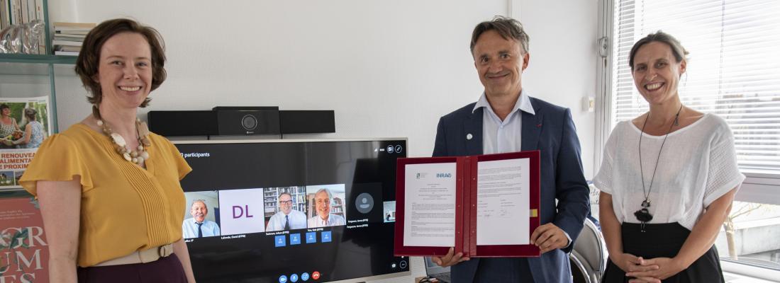 illustration Systèmes agricoles et sécurité alimentaire : INRAE et l'IFPRI signent un accord pour renforcer leurs collaborations communes