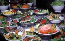 Assiettes aliments variés