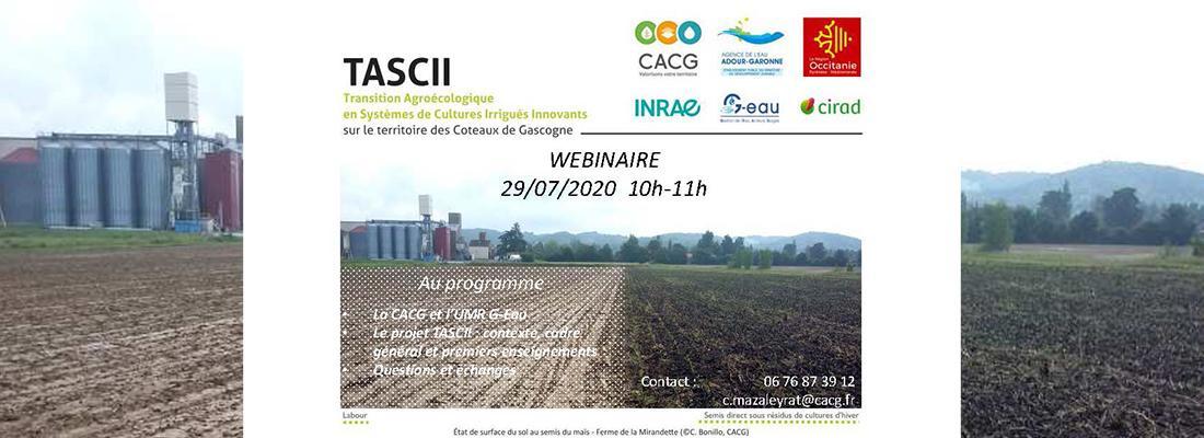illustration Webinaire « Transition Agro-écologique des Systèmes de Culture Irrigués Innovants» - Mercredi 29 juillet  à 10h