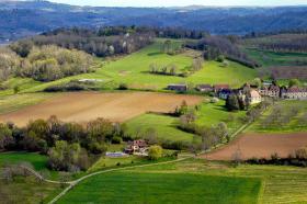 Paysage sur les bords de la Dordogne