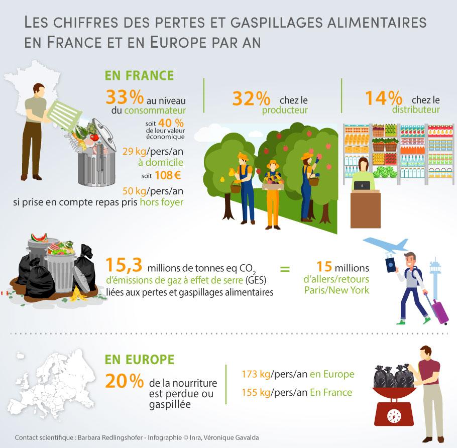 Les chiffres de pertes et gaspillages alimentaires en France et en Europe par an