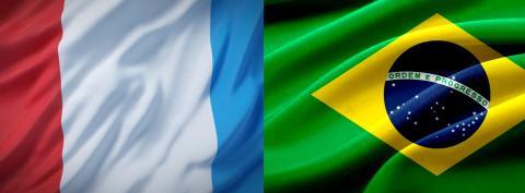Drapeaux France Brésil