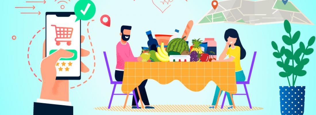 illustration Mieux manger : applications par le menu