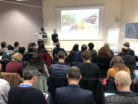 Intervention d'Eric Rigolot, directeur de l'unité Ecologie des Forêts Méditerranéennes devant les auditeurs de l'IHEST