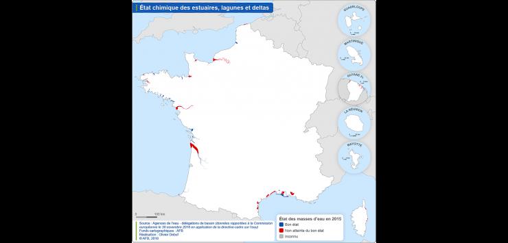 Carte de l'état chimique des estuaires