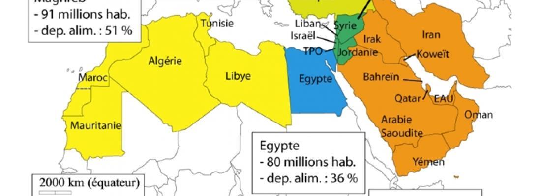 illustration  Afrique du Nord - Moyen-Orient à l'horizon 2050, vers une dépendance accrue aux importations agricoles