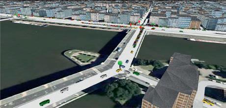 Simulation du trafic routier de la ville de Rouen réalisée avec Gama