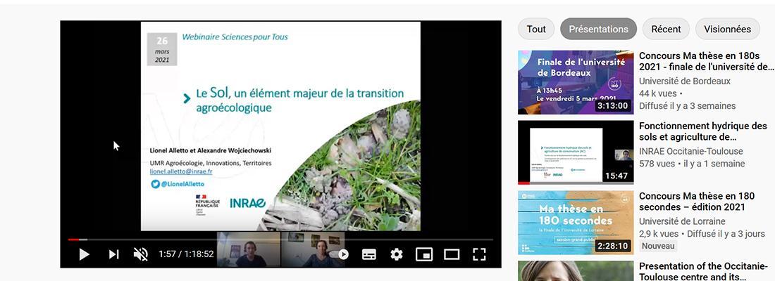 """illustration Replay sciences pour tous : """"Le sol, un élément majeur de la transition agroécologique"""""""