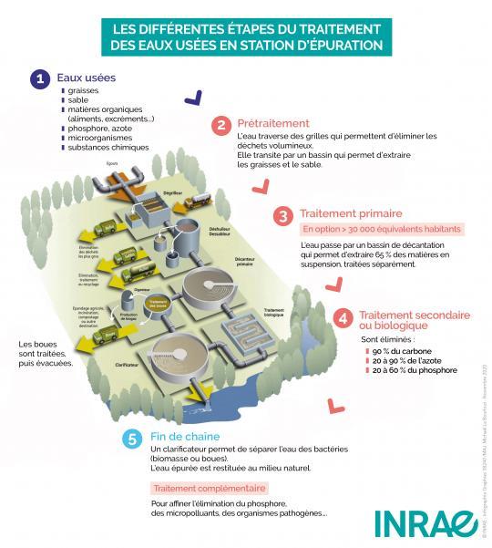 Les différentes étapes de traitement des eaux usées en station d'épuration