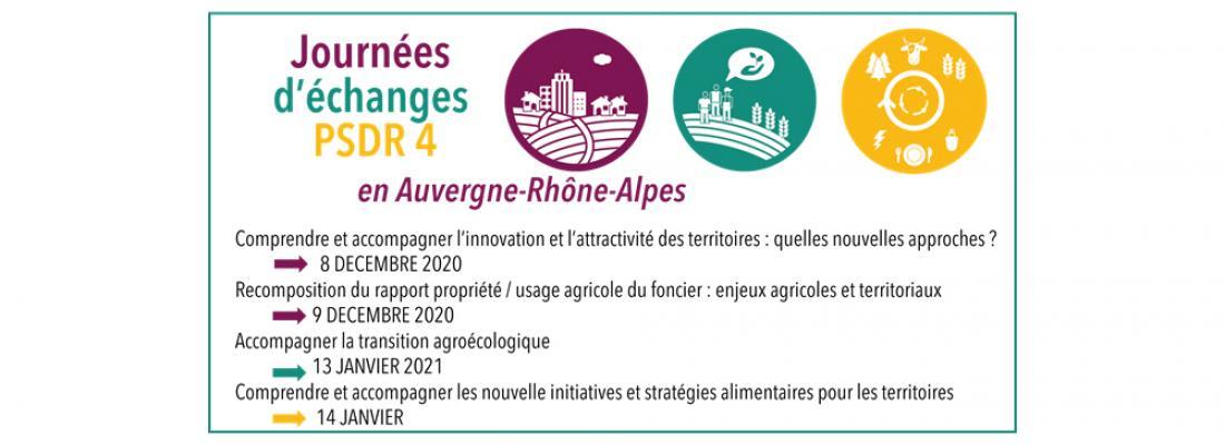 illustration Journées d'échanges PSDR4 en Auvergne-Rhône-Alpes