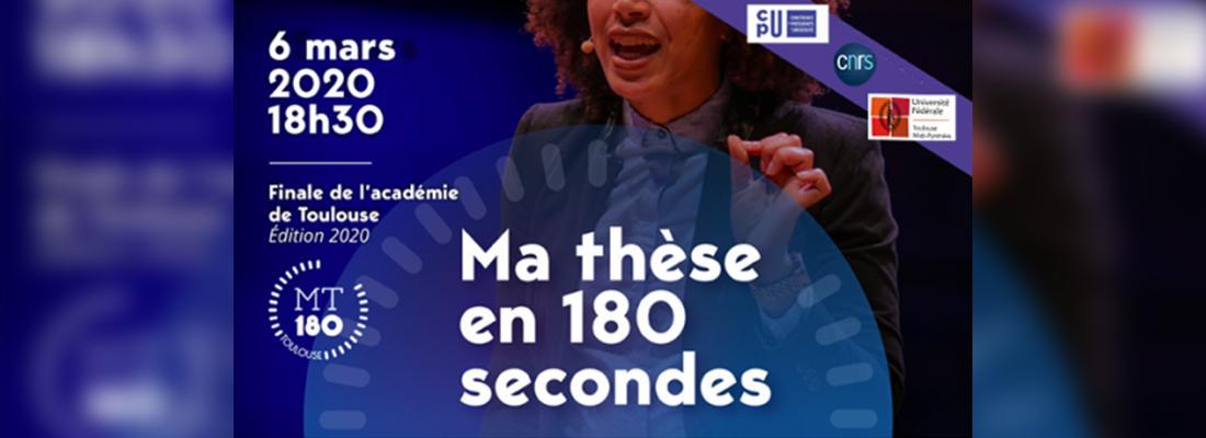 illustration Sidonie Durieux sélectionnée pour la finale régionale du concours « Ma thèse en 180 secondes » !