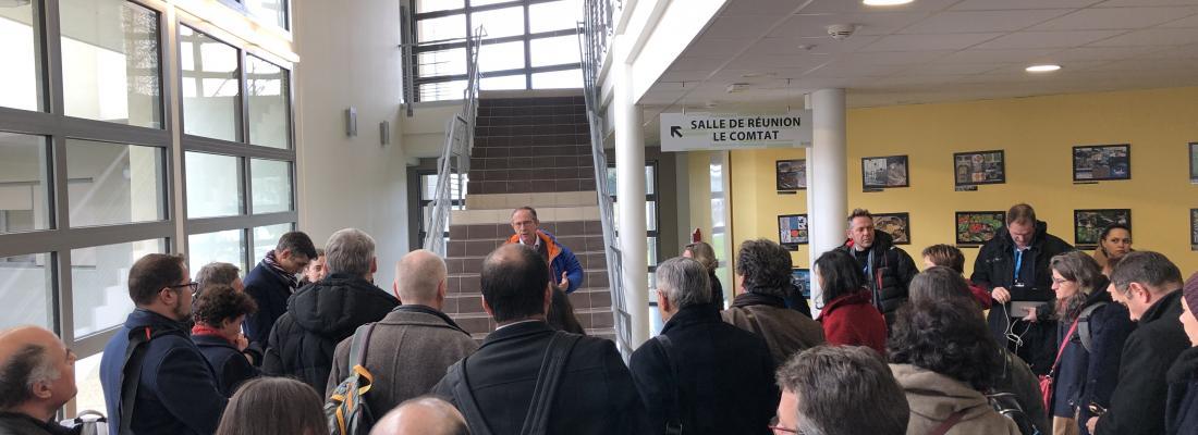 illustration Visite de l'Institut des Hautes Etudes pour la Science et la Technologie à Avignon, le 12 décembre 2019
