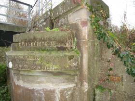 Canal des Neuf Moulins Colmar - repère des crues historiques de la Thur