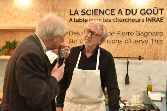 SIA 2020 La science a du goût, avec Hervé This et Pierre Gagnaire, chef étoilé