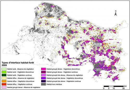 Cartographie des interfaces habitats forêts