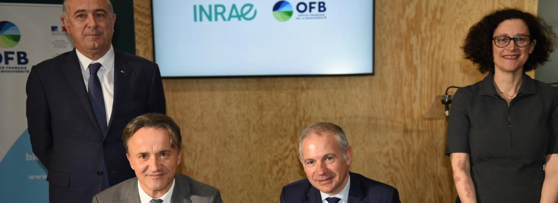 illustration Agroécologie, biodiversité terrestre et aquatique : INRAE et l'OFB signent un accord-cadre pour renforcer leur coopération