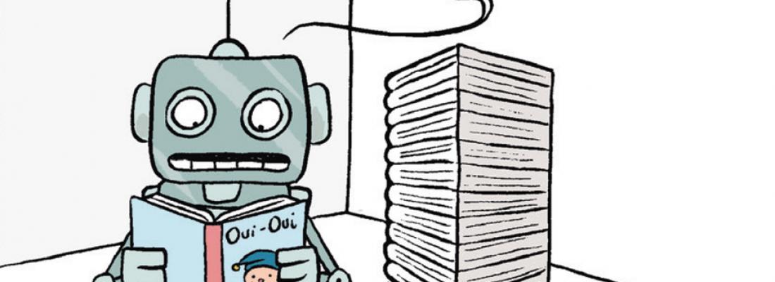illustration BD « Sciences en bulles » : des robots qui apprennent à lire